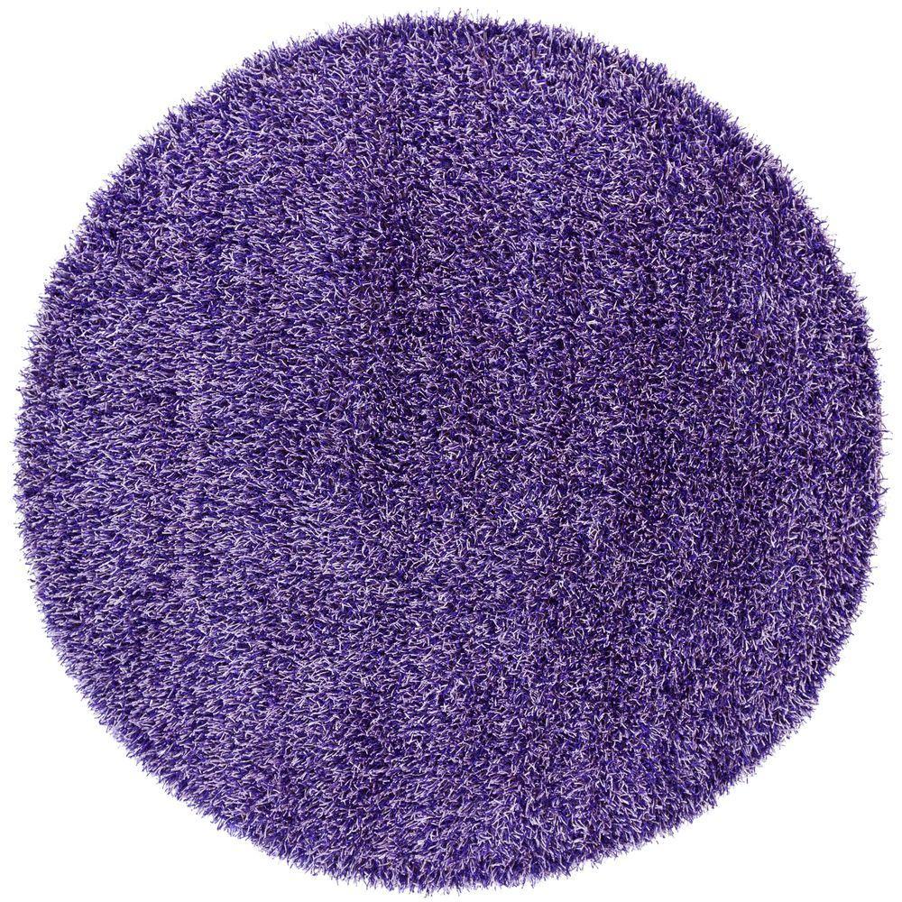 Zara Purple/Lavendar 8 ft. Indoor Round Area Rug