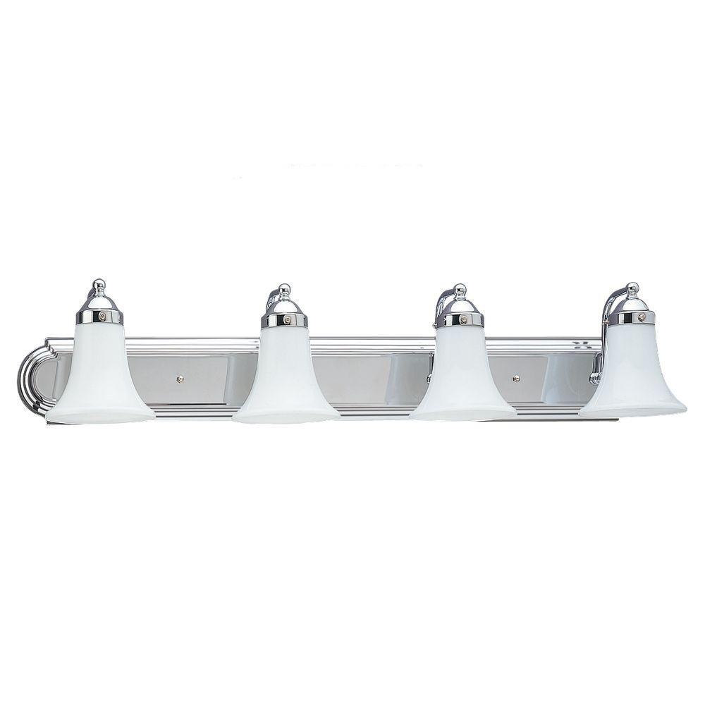 Sea Gull Lighting Astoria 4-Light Chrome Vanity Fixture