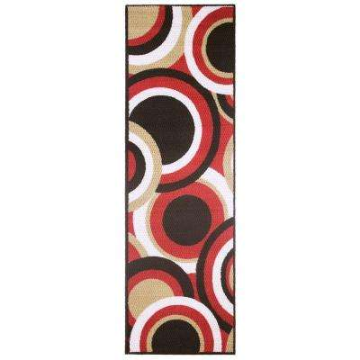 Circles Multi 2 ft. x 5 ft. Area Runner Rug