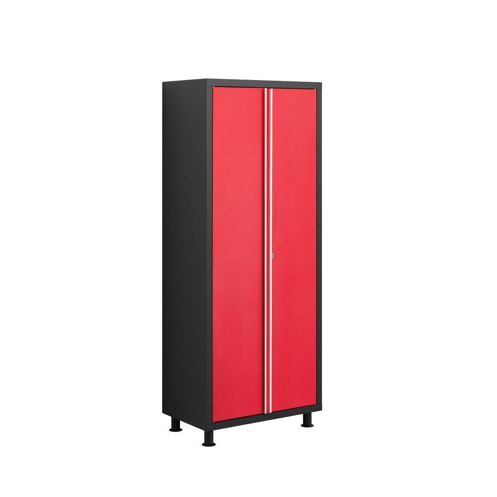 NewAge Products Bold Series 72 in. H x 30 in. W x 18 in. D 2-Door 24-Gauge Welded Steel Garage Cabinet in Red