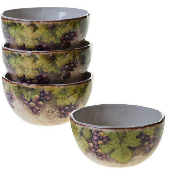 Certified International Sanctuary Wine Ice Cream and Cereal Bowl (Set of
