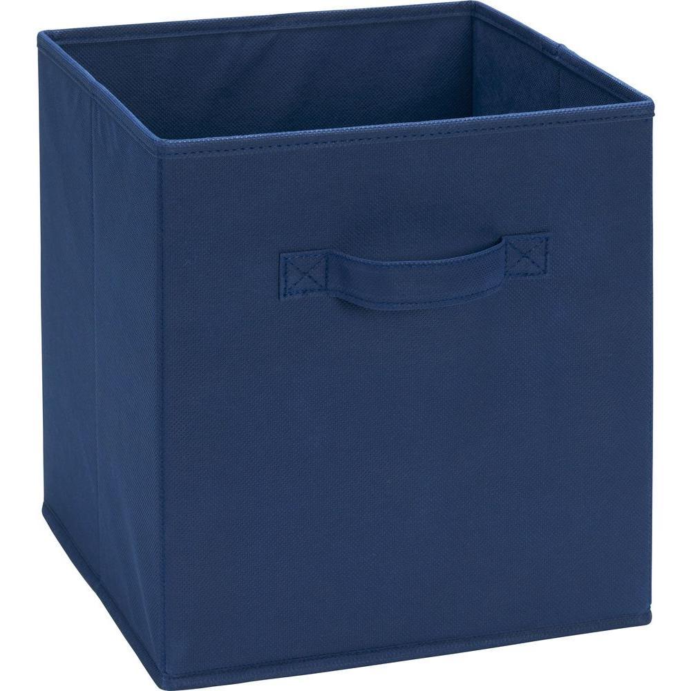 10.5 in. x 11 in. x 10.5 in. 5.25 Gal. Blue Fabric Storage Bin