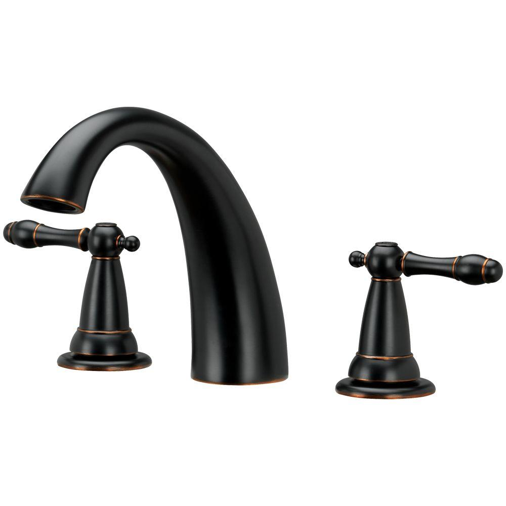 Homewerks Worldwide 2-Handle Roman Tub Faucet in Brushed Bronze-40 ...