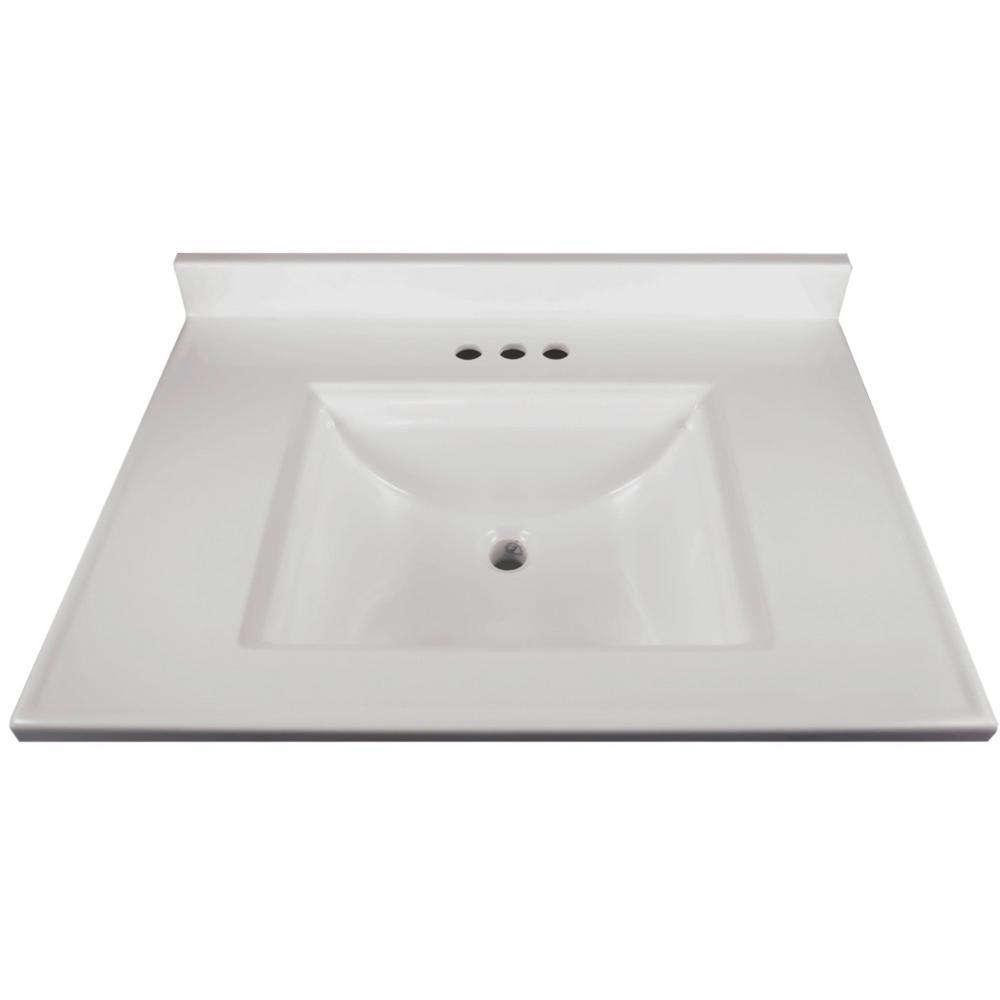 18 x 30 Unassembled Solid White Design House 585695 Brookings Shaker 2-Door 2-Drawer 37x22 Vanity Top
