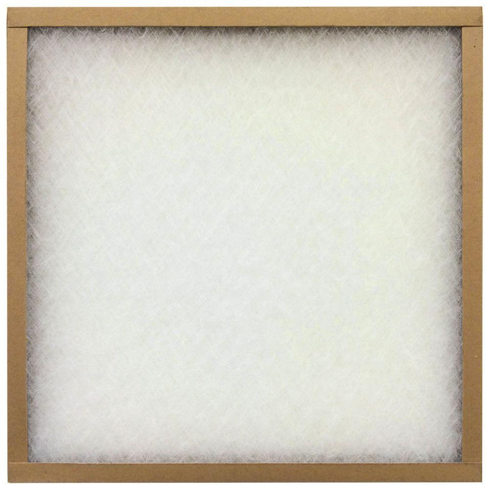 Flanders PrecisionAire 25 in. x 30 in. x 1 in. EZ Flow II No-Metal Air Filter (Case of 12)