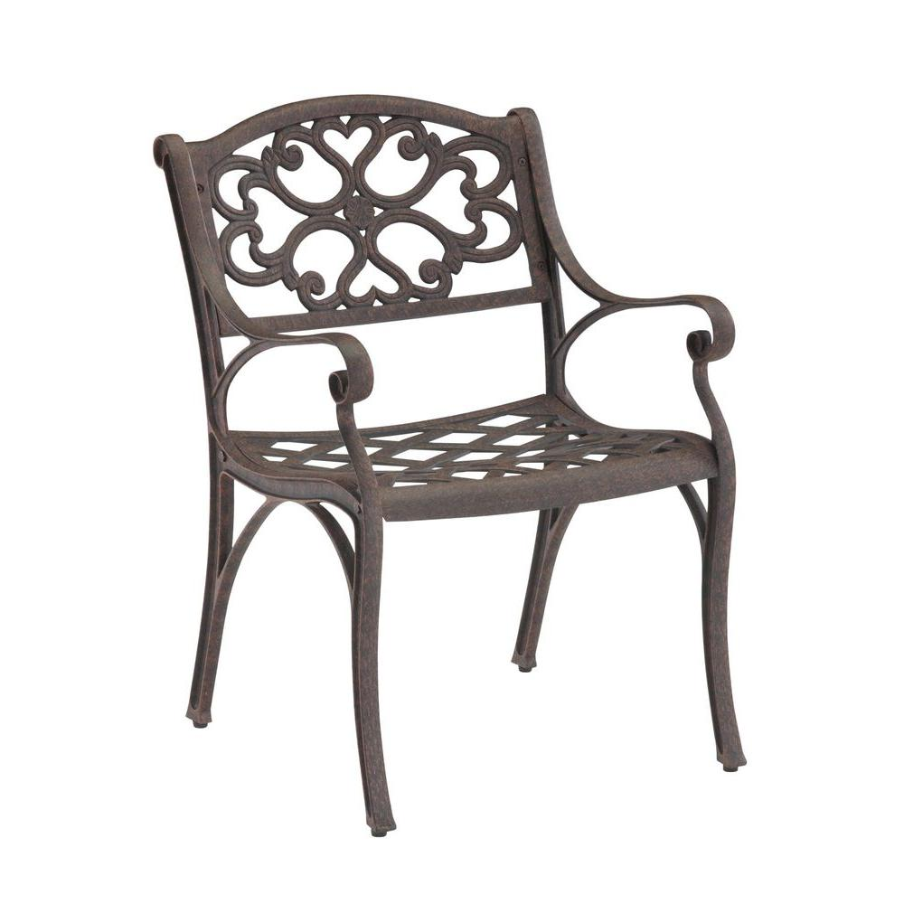 Home Styles Biscayne Bronze Patio Dining Chair (2-Pack)