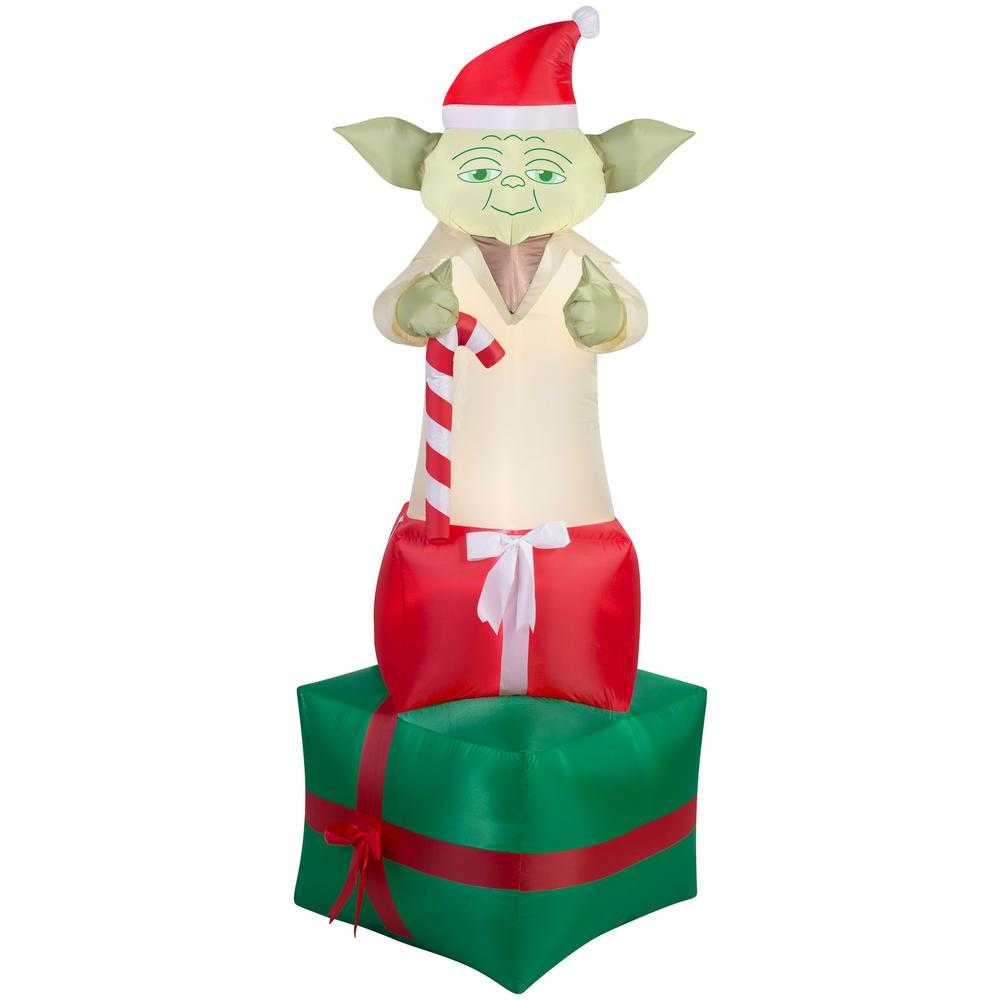 the best attitude 1262d e99c6 Airblown 6 ft. Inflatable Yoda on Presents Star Wars ...
