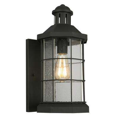 San Mateo Creek 1-Light Matte Black Outdoor Wall Mount Lantern