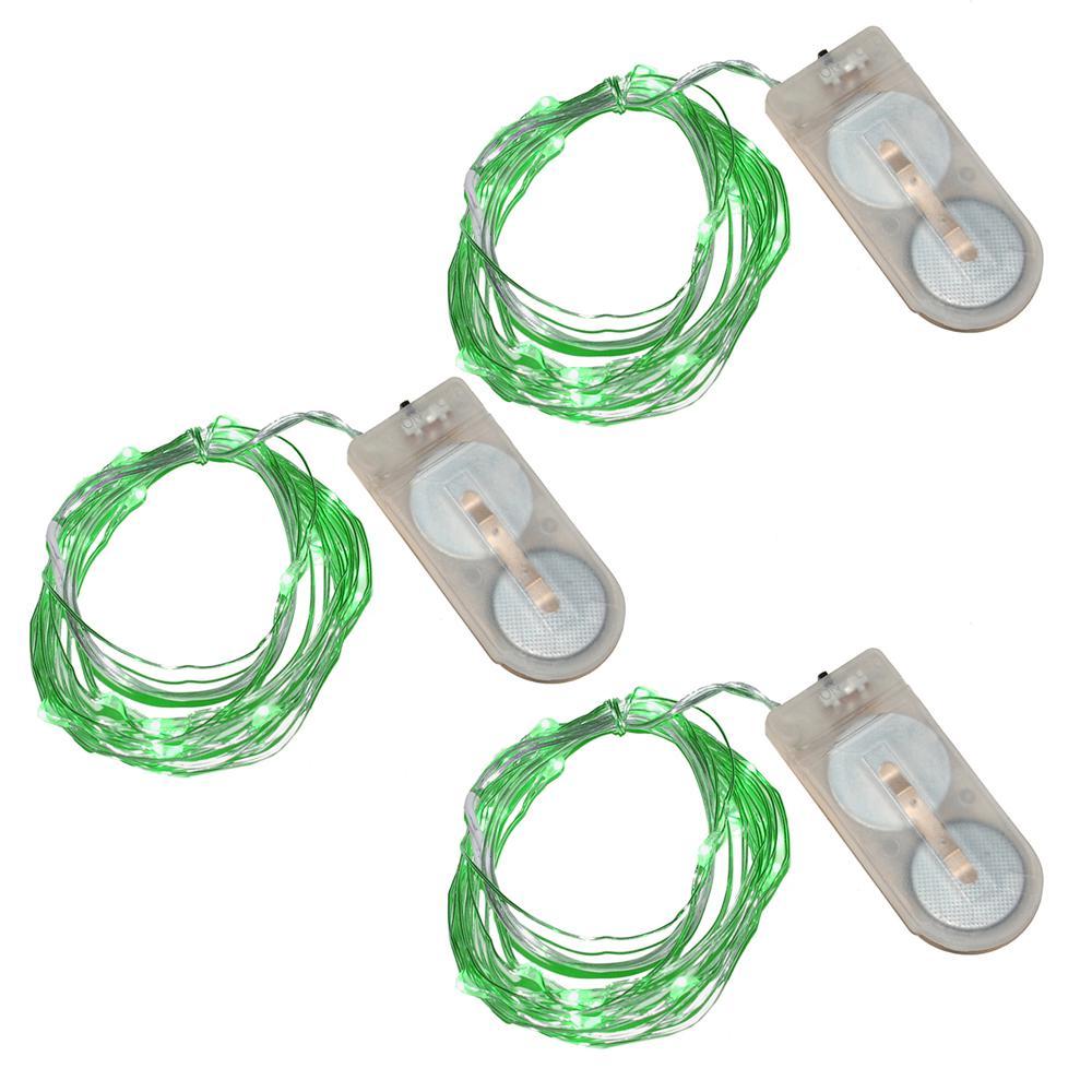 20-Green Waterproof Mini LED String Light (Set of 3)