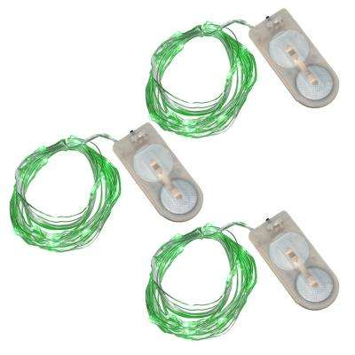 20-Green Waterproof Mini LED String Light (Set of 3)