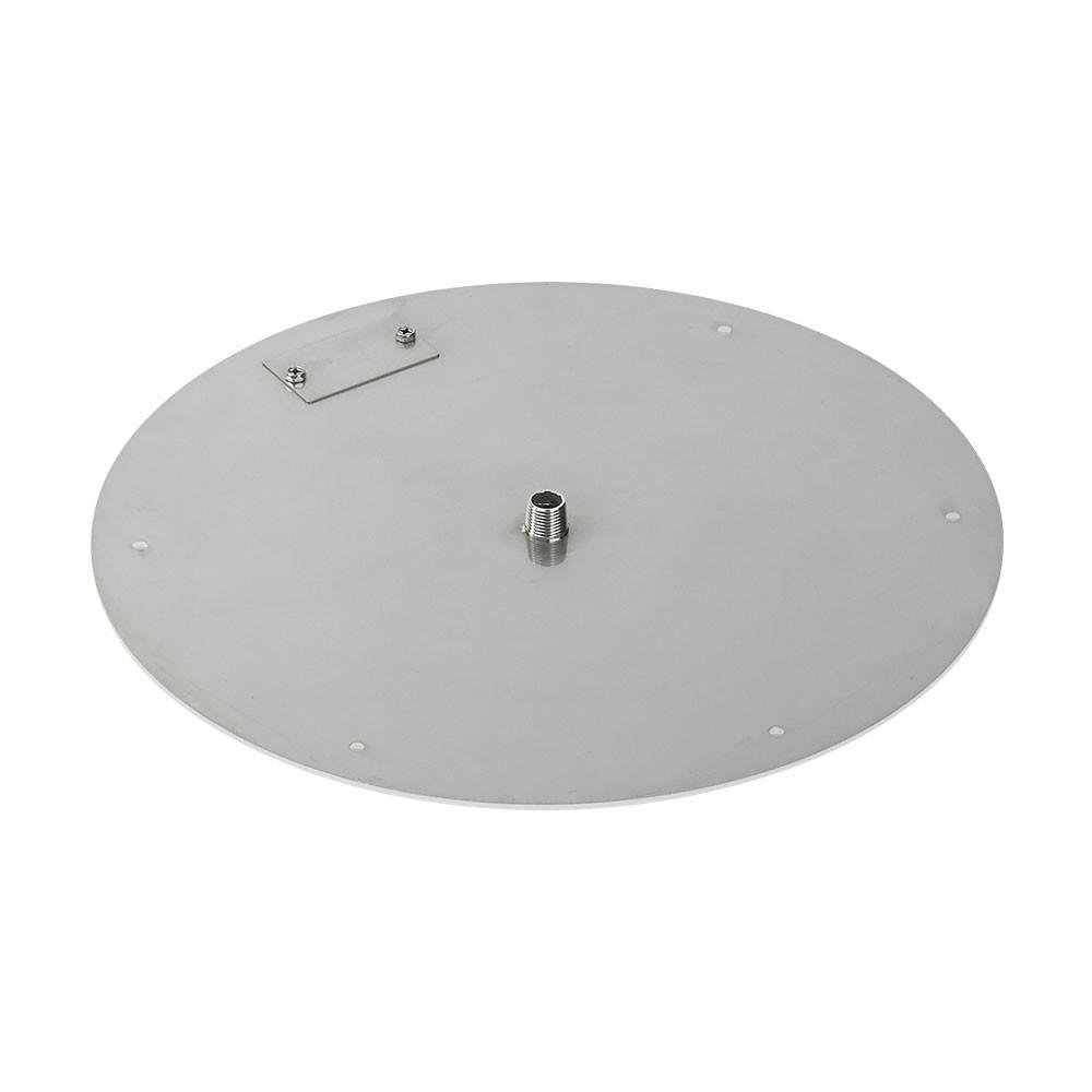 American Fire Glass 18 in. Round Stainless Steel Flat Fire Pit Pan ...