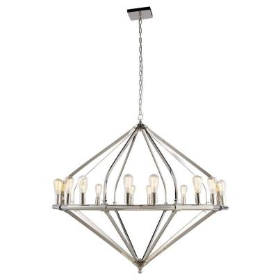 Illumina 16-Light Polished Nickel Pendant Lamp