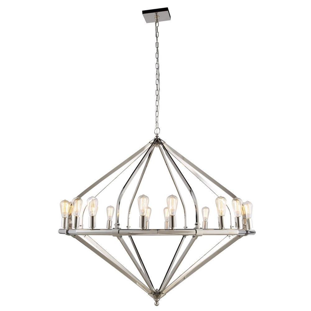 Illumina 16-Light Polished Nickel Pendant Lamp