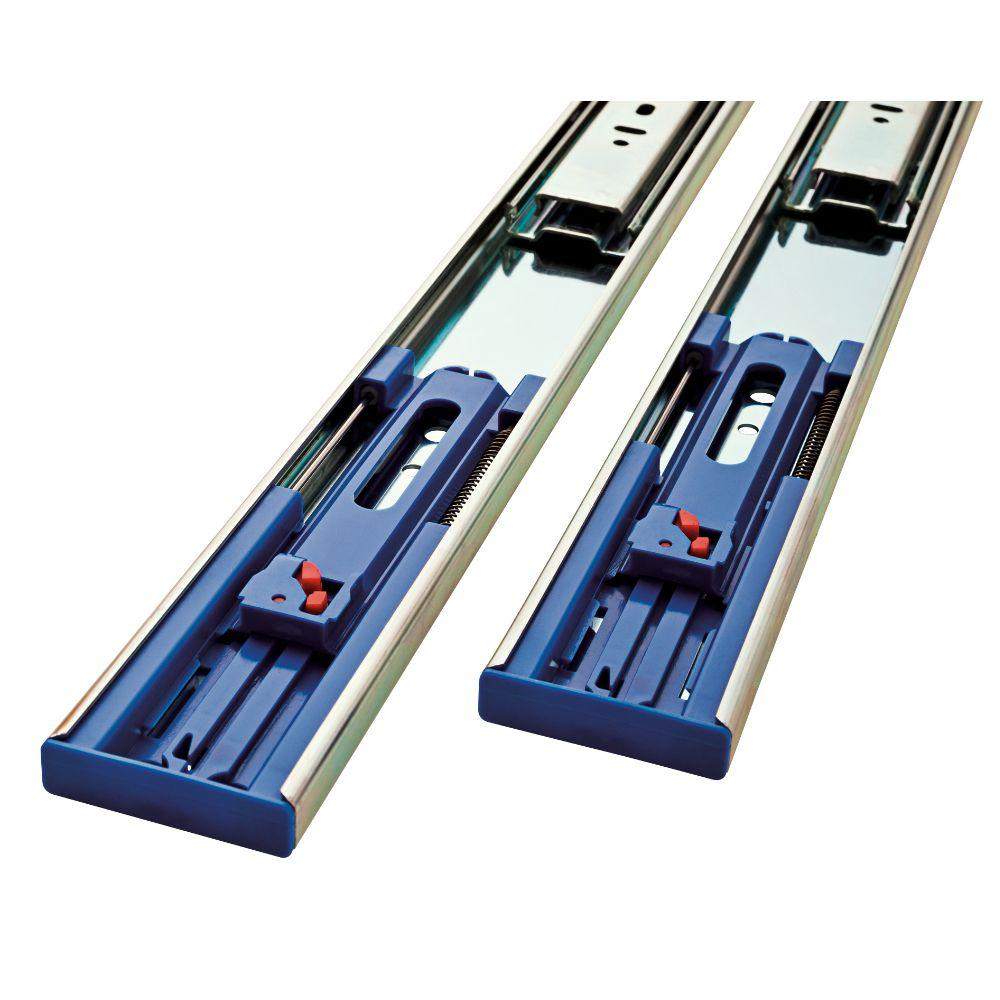 Soft Close Ball Bearing Full Extension Drawer Slide (1 Pair)