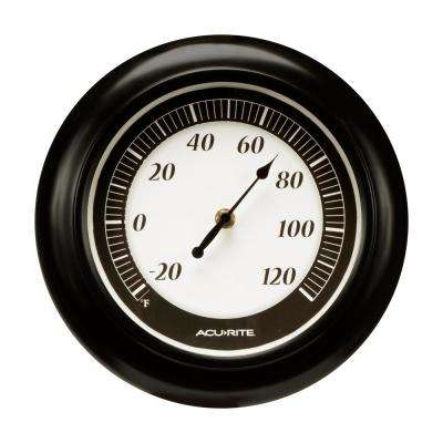 10 in. Thermometer Black