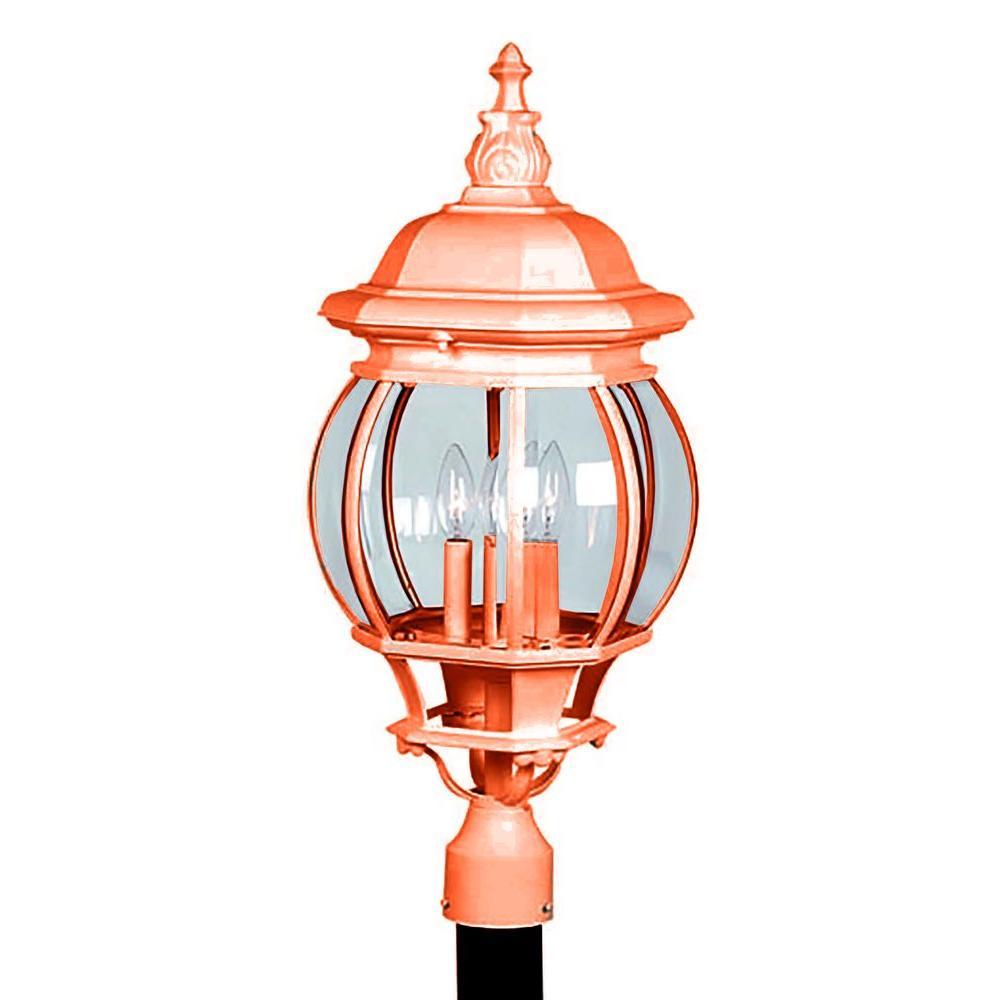 Sergej 4-Light Rust Outdoor Post Lantern
