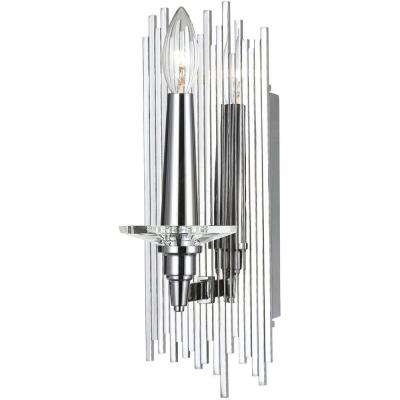 8410 1-Light Chrome Wall Sconce