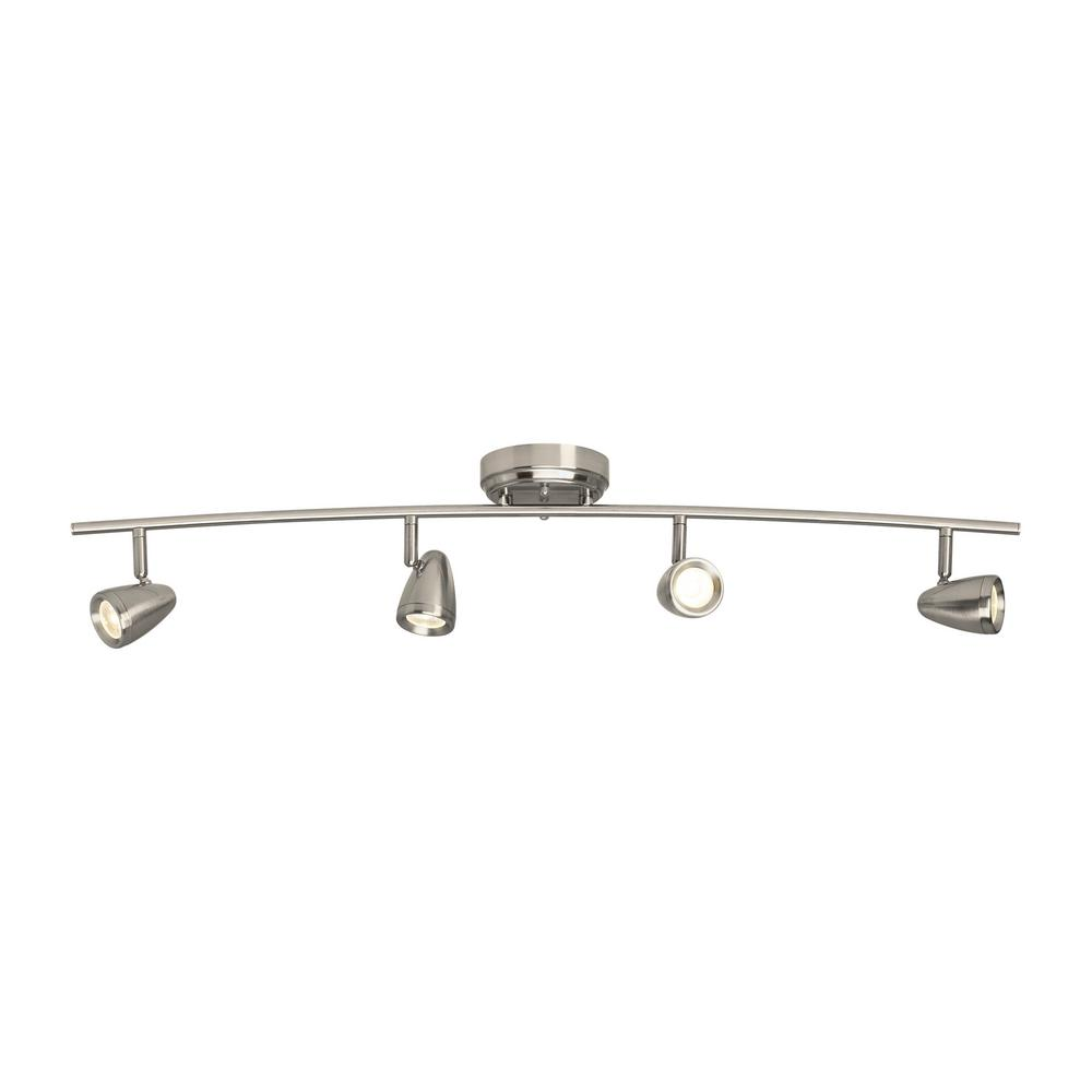 Sea Gull Lighting Talida 3 Ft Brushed Nickel Integrated Led Curved Track Kit