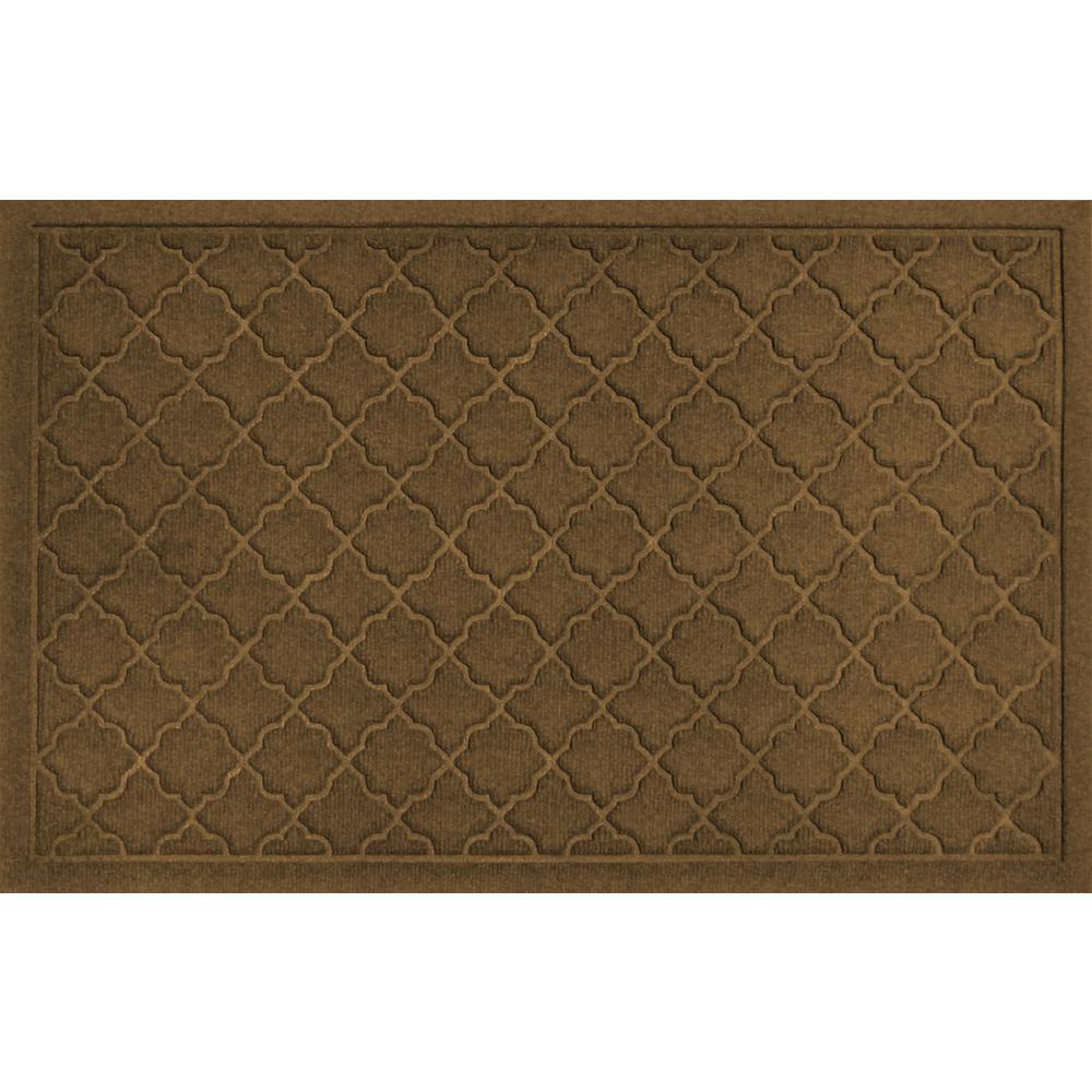 Cordova Dark Brown 23 in. x 35 in. PET Polyester Doormat