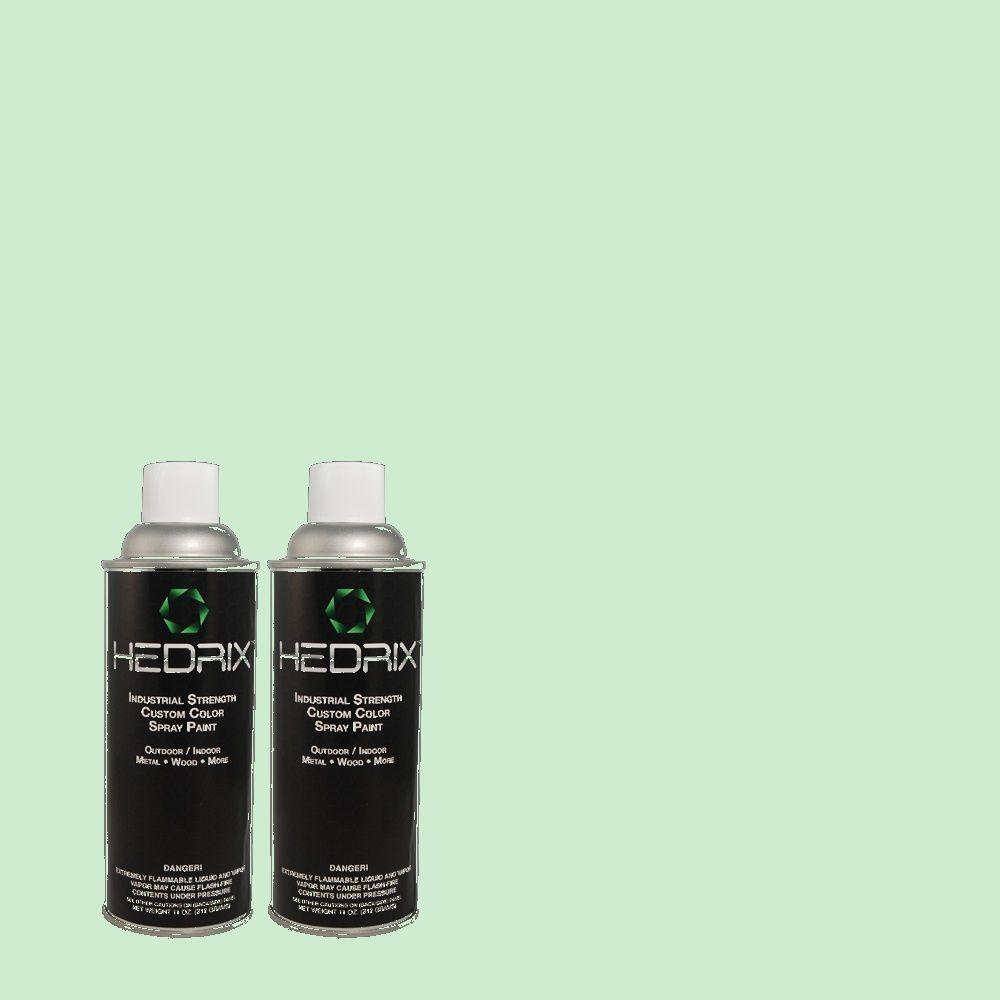 Hedrix 11 oz. Match of 1B52-2 Green Curtain Semi-Gloss Custom Spray Paint (2-Pack)
