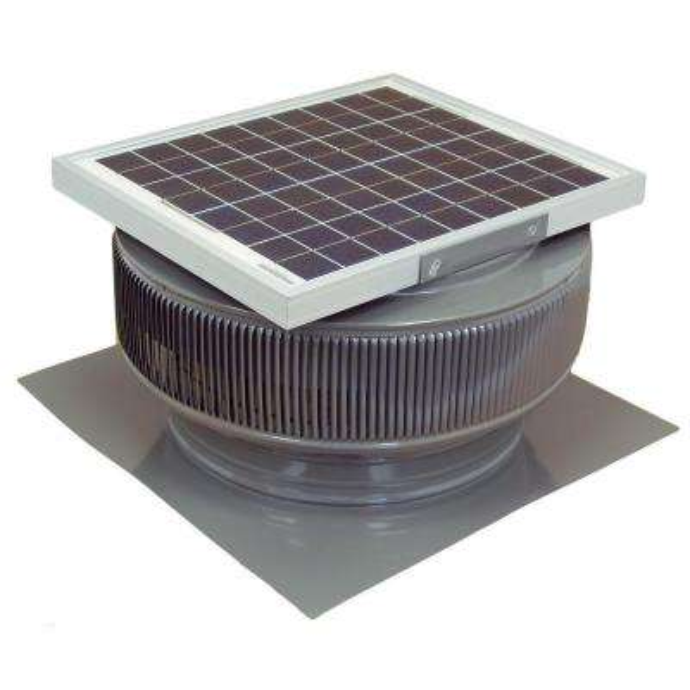 1007 CFM Weatherwood Powder Coated 15-Watt Solar Powered 14 in. Dia. Roof Mounted Attic Exhaust Fan