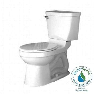 Champion 4 Chair Height 2-Piece 1.6 GPF Single Flush Elongated Toilet in White