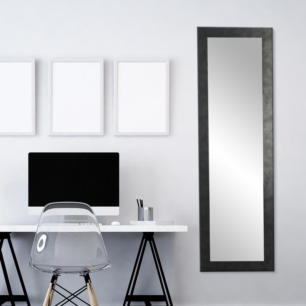 BrandtWorks Clouded Gunmetal Full Length Wall Mirror BM25THIN