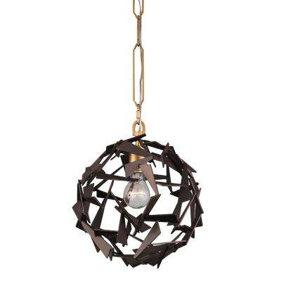 Bermuda 1-Light Antique Gold/Rustic Bronze Pendant