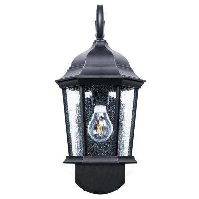 Coach Smart Security Companion Textured Black Outdoor Wall Mount Lantern