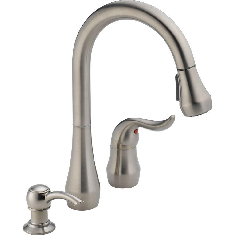 Peerless Apex Single-Handle Pull-Down Sprayer Kitchen Faucet with ...