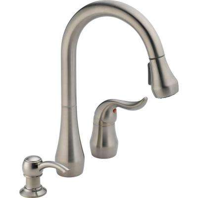 Apex Single-Handle Pull-Down Sprayer Kitchen Faucet with Soap Dispenser in Stainless