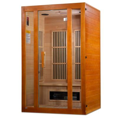 Lifesauna Aspen 2-Person Infrared Sauna with 4 Dual Tech Multi Spectrum Infrared Heaters and Chromotherapy