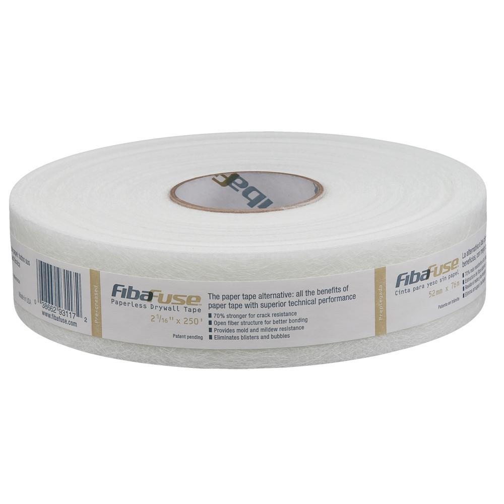 Saint-Gobain ADFORS FibaFuse 2-1/16 in in. x 250 ft. White Paperless Drywall Joint Tape