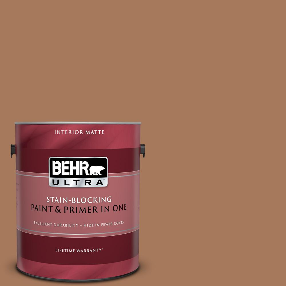 BEHR ULTRA 1 gal  #260F-6 Smokey Topaz Matte Interior Paint and Primer in  One