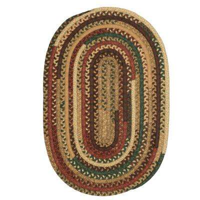 Hearth Fall 6 ft. x 9 ft. Oval Braided Area Rug
