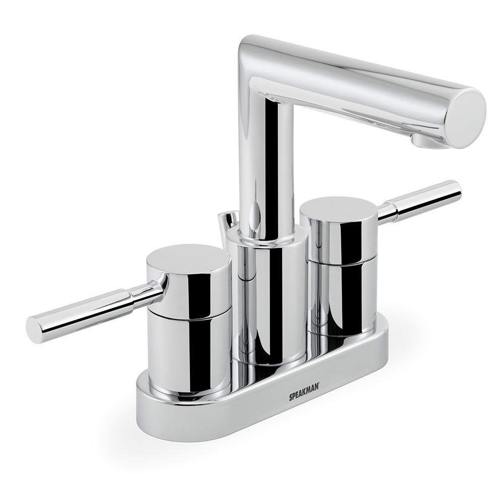 Neo Faucet: Speakman Neo 4 In. Centerset 2-Handle Bathroom Faucet In