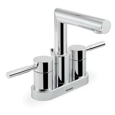Neo 4 in. Centerset 2-Handle Bathroom Faucet in Polished Chrome with Pop-Up Drain