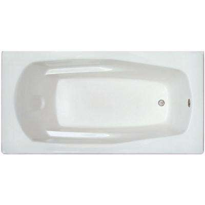 5.92 ft. Rectangular Drop-in Non-Whirlpool Bathtub in White