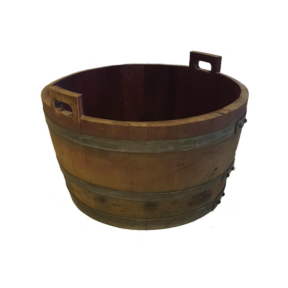 26 in. W 17 in. H Oak Bucket