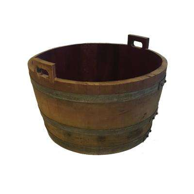 26 in. W 17 in. H Oak Bucket