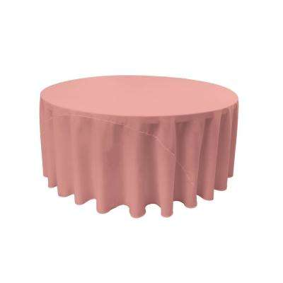 120 in. Dusty Rose Polyester Poplin Round Tablecloth
