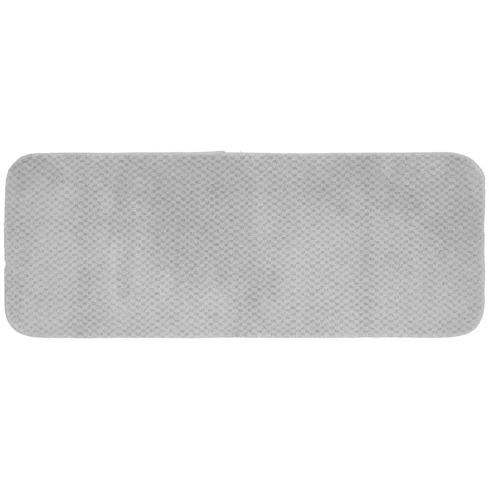 Cabernet Platinum Gray 22 in. x 60 in. Washable Bathroom Accent