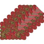C & F Home Gloria Red Placemat (Set of 6)