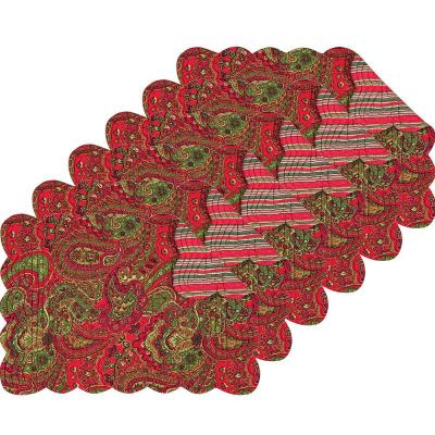 Gloria Red Placemat (Set of 6)