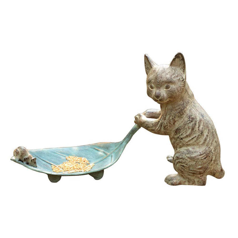 Cat and Leaf Bird Feeder, Verdi
