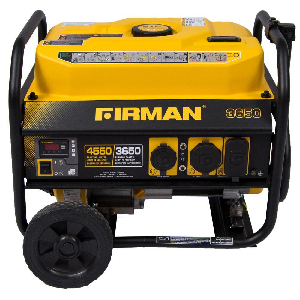 4550 3650 Watt Recoil Start Gas Portable Generator Cetl Certified With Wheel Kit