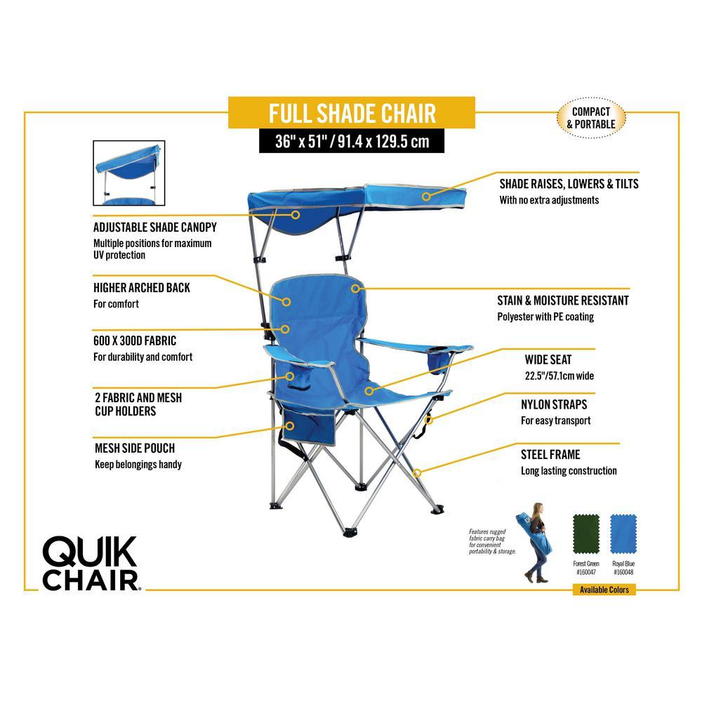 Quick Shade Folding Chair Frontyard Outdoorhouseplan Com