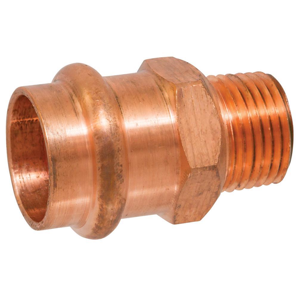 3/4 in. x 1/2 in. Copper Press x MIP Pressure Male Adapter