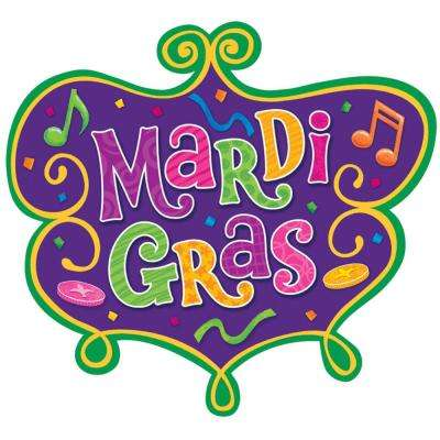 10.5 in. Mardi Gras Paper Cutout (17-Pack)