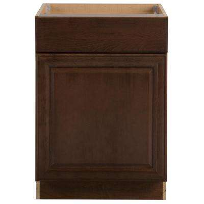 Benton Assembled 24x34.5x24.63 in. Base Cabinet with Soft Close Full Extension Drawer in Butterscotch